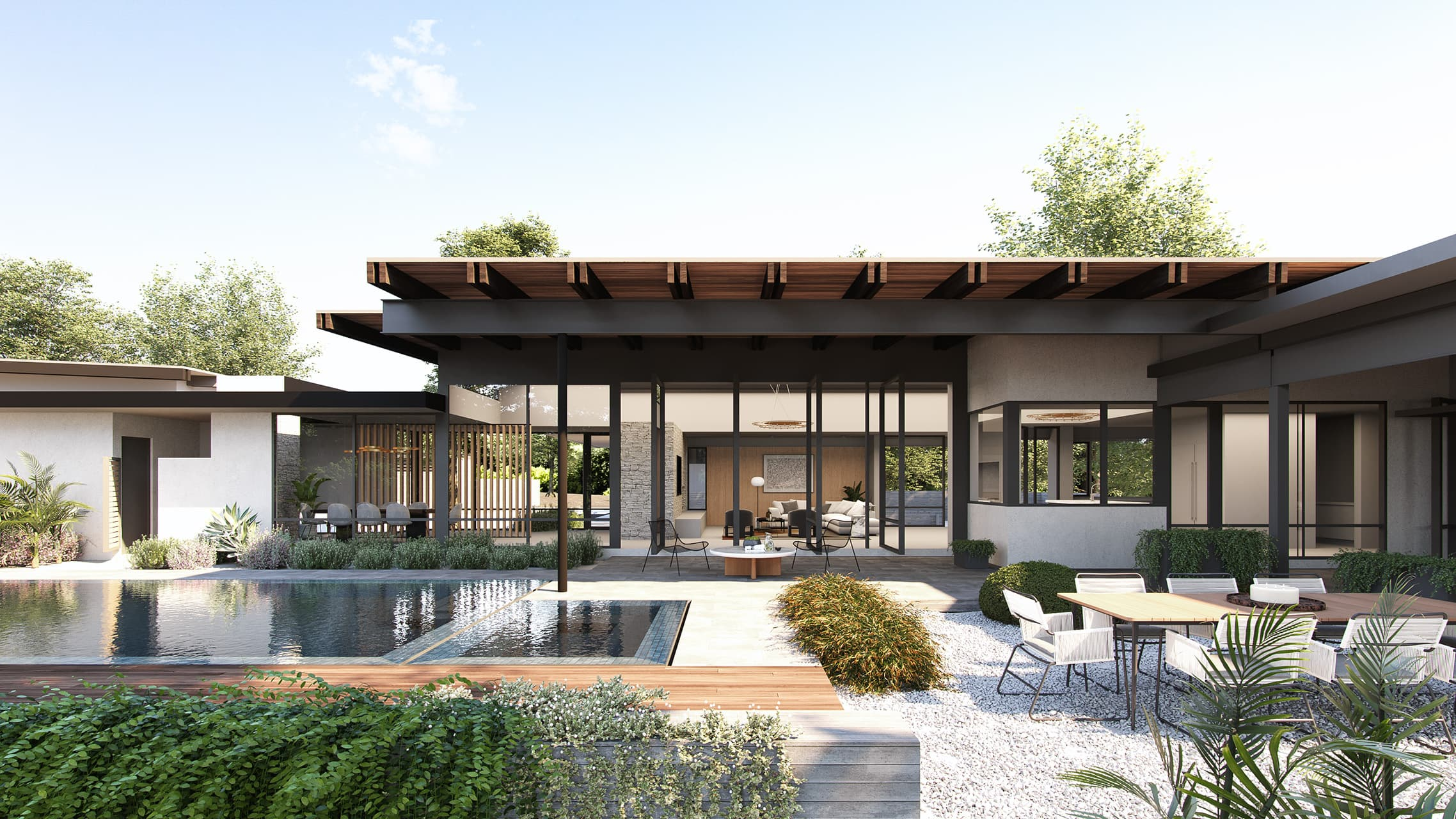 Exterior of Oakwood Retreat - McCollum Studio Architects